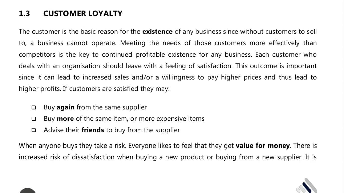custoer loyalty